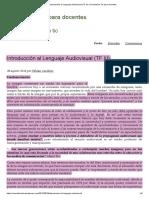 Cardozo - 2010 - Introducción Al Lenguaje Audiovisual (TF III)