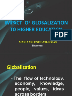 Impact of Globalization to Higher Education