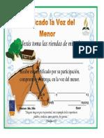 Certificado Voz Del Menor TIPO A
