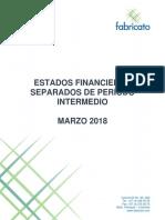Estados Financieros Separados 1q18