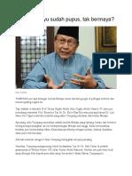 Intelek Melayu Sudah Pupus