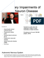 Physiotherapy management of complications in patients with Motor Neuron Disease(MND)