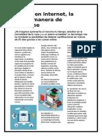 Articulo sobre cursos en Internet (Alumnos de SENATI)