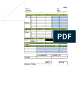 Cooling Load Estimation Table