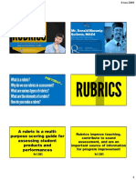 Rubrics - Handout