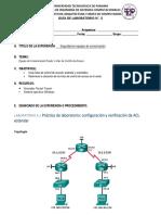 Guia de Laboratorio No. 5- Listas de Control de Acceso en Router