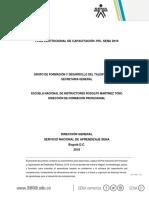 Plan Institucional Capacitacion Pic 2018