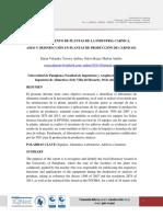 1er Informe..... Reconocimiento de La Planta Carnicas