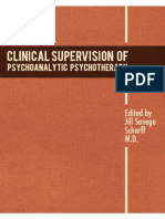 Clinical Supervision of Psychoanalytic Psy