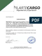 Carta Trabajo Pilarte Cargo