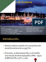 Produccion de Acetona