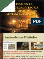 Sistema en La Antigüedad y Teoría Del Dominio de Las Sustancias Mineras