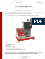 Product Catalogue - Melt Flow Indexer MFI -100