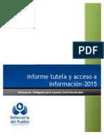 Informe Tutela y Acceso Info 2015
