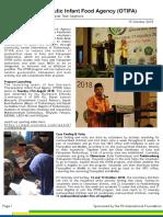 1. OTIFA External Newsletter Vol. 1 - 15 October 2018