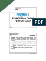 pengenalan dasar program