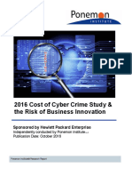 2016 Cost of Cyber Crime Study