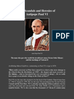 The Scandals and Heresies of Antipope Paul Vi