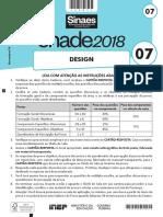 Provas e Gabarito Enade2018 Design