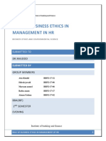 Ethics Role of Business Ethics in Management of Human Resources