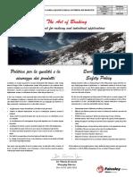 PoliticaQualità&SicurezzaProdotti Rev01 18