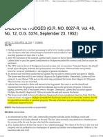1 Ladera v Hodges Digest