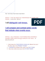verb tenses  22past present future 22 sle 6-4