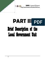 Part III - Brief Description of the LGU