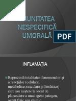 Imunitatea Nespecifică Umorală (Proteinele de Fază Acută)