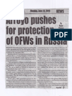 Peoples Journal, June 10, 2019, Arroyo pushes for protection of OFWs in Russia.pdf