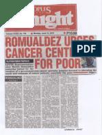 Peoples Tonight, June 10, 2019, Romualdez urges cancer center for poor.pdf