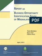 Report on BOI Study of Meghalaya