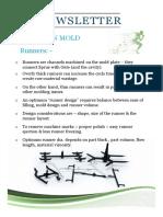 4 Runner Design for Thermoplastic Molds