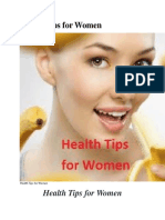 Health Tips for Womens