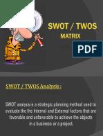 S W O T Analysis Matrix