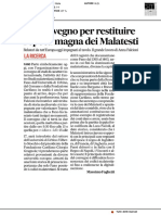 Un convegno per restituire l'anima magna dei Malatesti - Il Corriere Adriatico del 6 giugno 2019