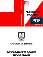 History of University Postgrad Prospectus
