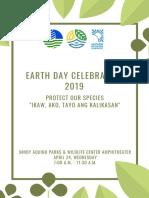 Earth Day Celebration Program(Tentative-April 24) (1)