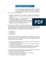 Cuestionario Comunicaciones, Riesgos, Adquisiciones e Interesados