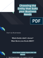 Choosing the Entity That Suits Your Business Needs