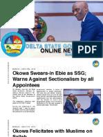DSG Online Newsletter. Sunday June 9th 2019 #3