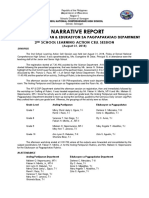 Narrative Report of 2nd Slacs