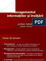Modulul Management Invatare