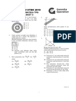 Soal Review UTBK 2019 (Matematika TPS Paket 3)