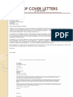 Samples of Cover Letters (1)