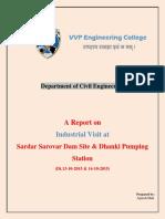 JAS Industrial Visit Report Sardar Sarovar Dam and Dhanki Pumping Station 13-10-2015 To14!10!2015