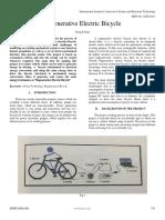 Regenerative Electric Bicycle