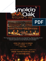 Smokin Oak 2015 Menu 1