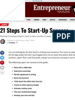 21 Steps To Start-Up Success | Entrepreneur
