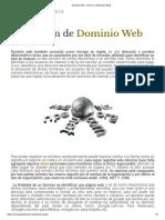 Dominio Web - Qué Es y Definición 2019_9º